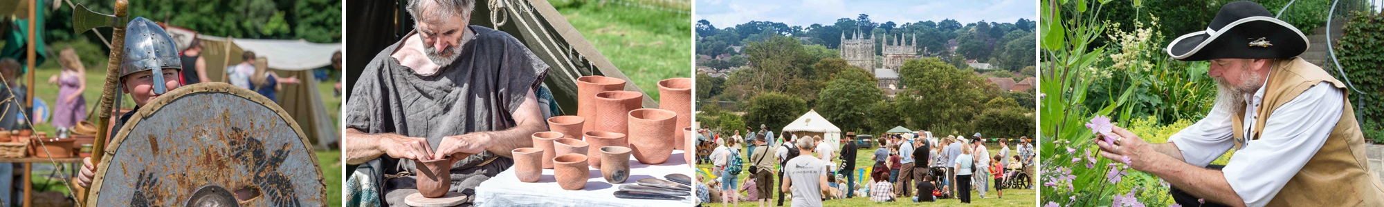 2016 Young Viking Pottery View Physick Garden