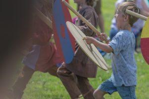 Children v Vikings (© Andrew Chorley)
