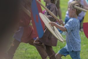 Children v Vikings (© Andrew Chorley)